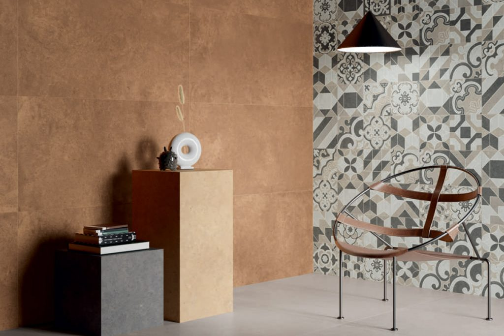 Patterned tiles are a ideal for a focal wall in the home.