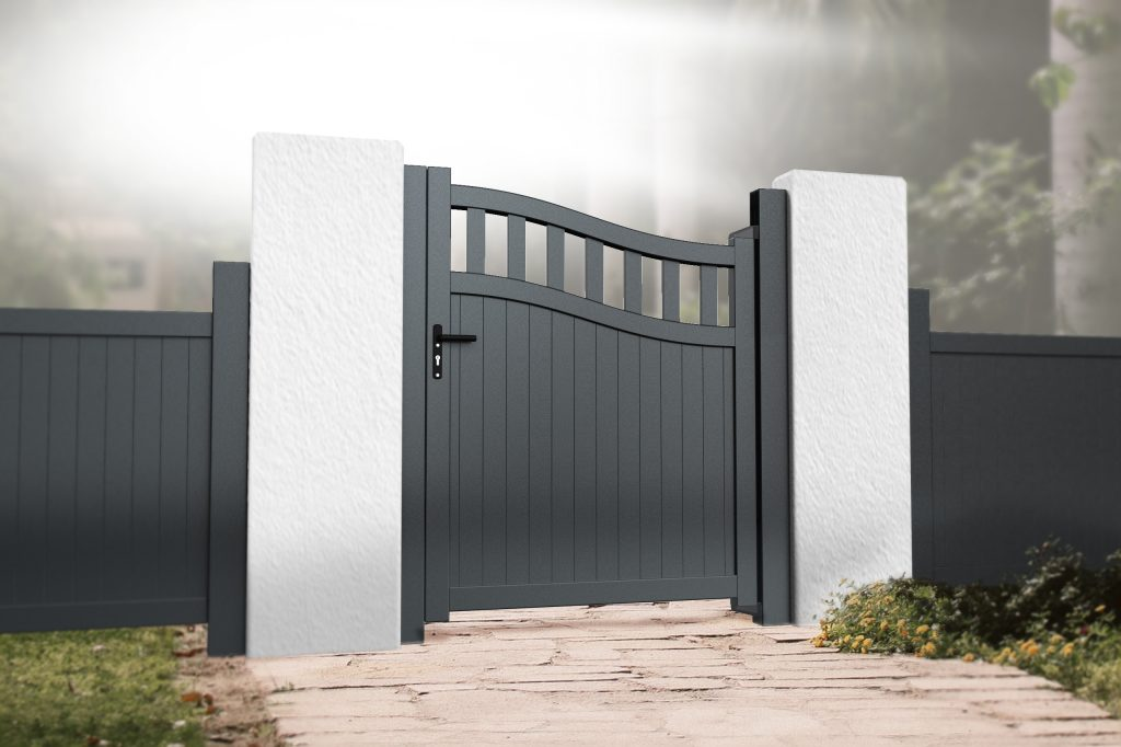 Metal gates will make the perfect finishing touch to the garden.