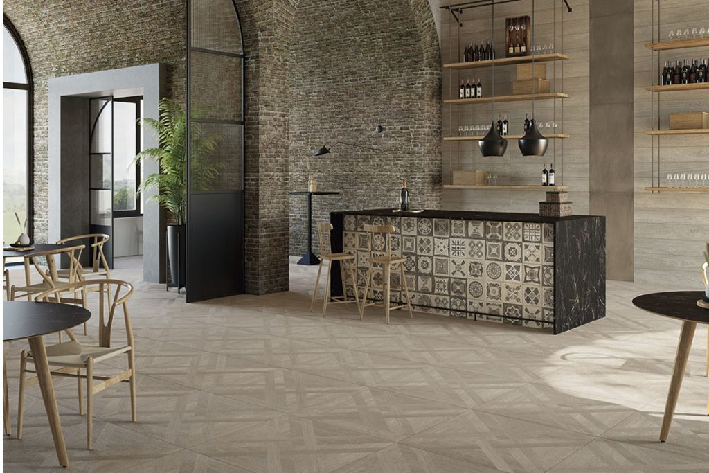 Patterned tiles are perfect for creating focal points in the home.