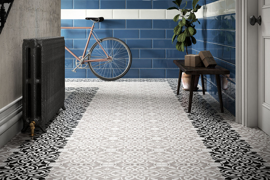 Patterned tiles are a great way to make a statement entrance.