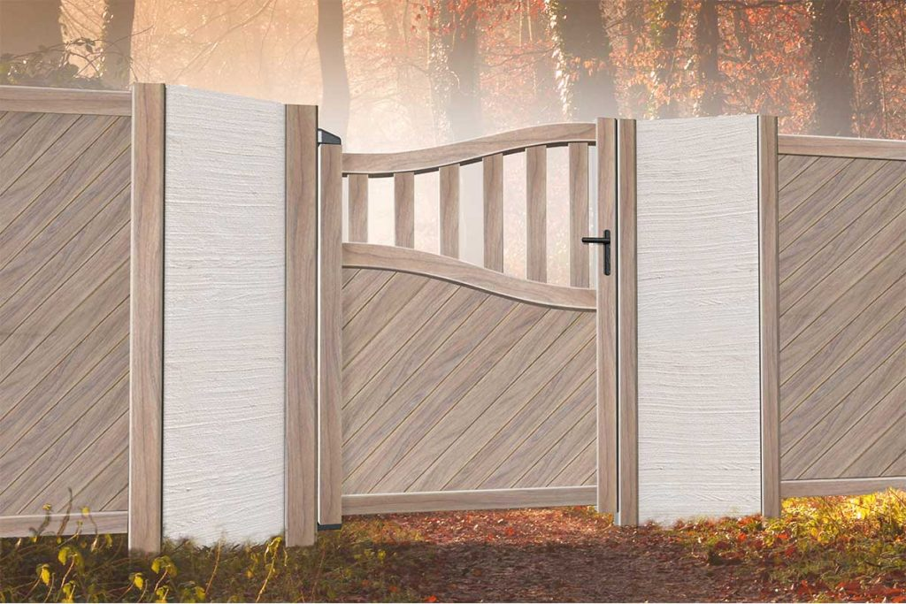 Metal pedestrian gates are the perfect finishing touches for the garden.