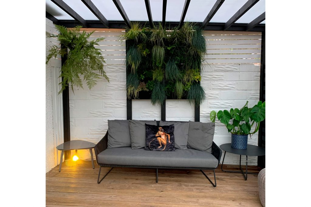 Living walls can be used inside and outside to brighten spaces.