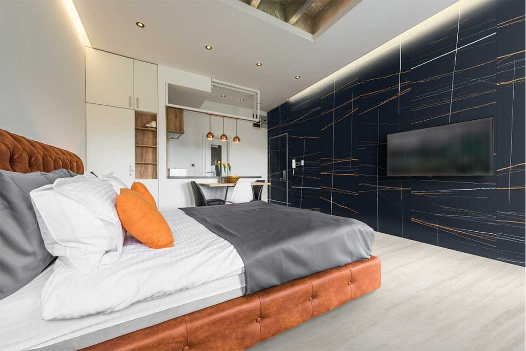 Internal wall cladding can be used all over the home, whether in bedrooms, bathrooms or kitchens.