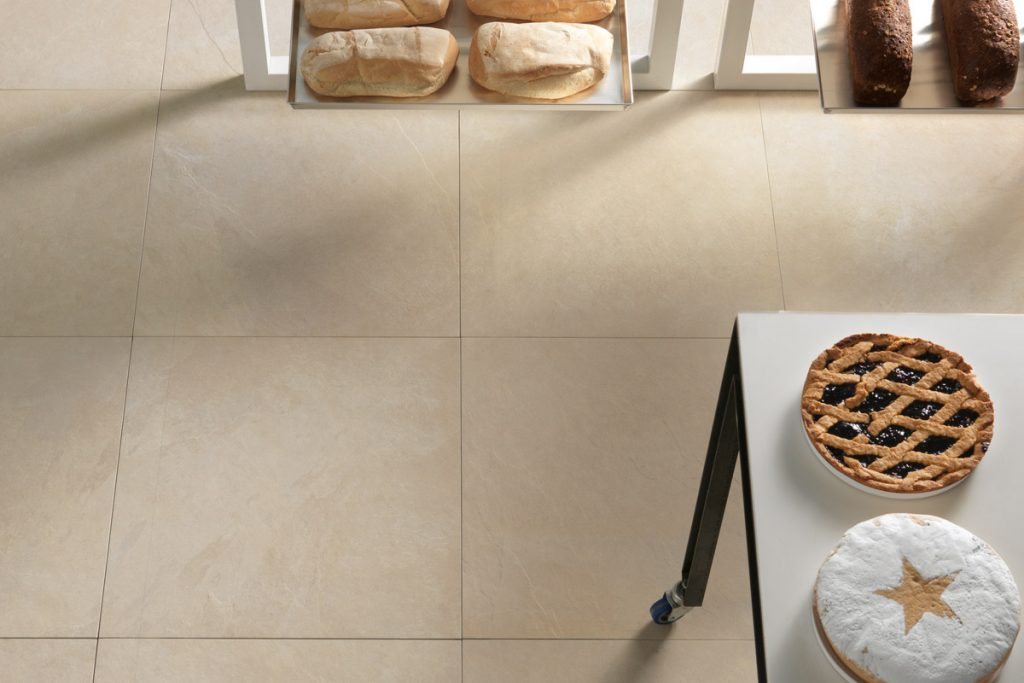 Pairing dark grout with light tiles is the perfect combination.