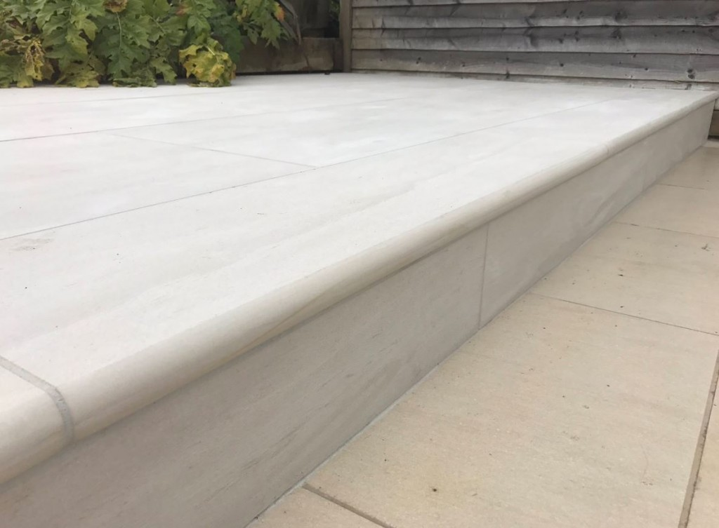 Porcelain 40mm Bullnose Steps, a new first from London Stone