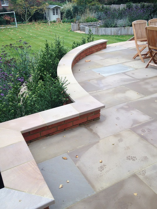 Buff sandstone patio 2