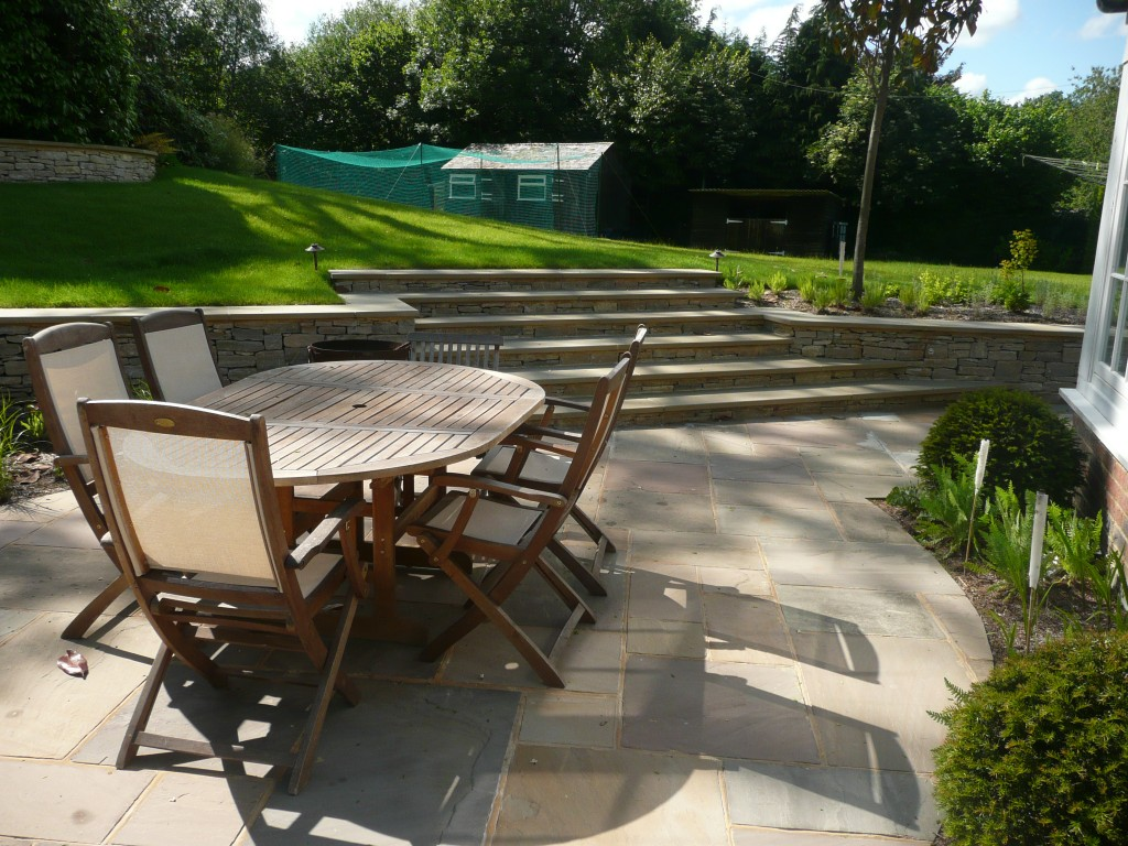 Graduate Landscapes Bespoke Buff Yorkstone Steps Two 1