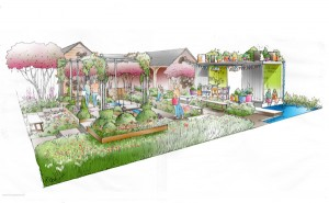 The RHS Greening Grey Britain Garden for Health, Happiness and Horticulture by designer Ann-Marie Powell