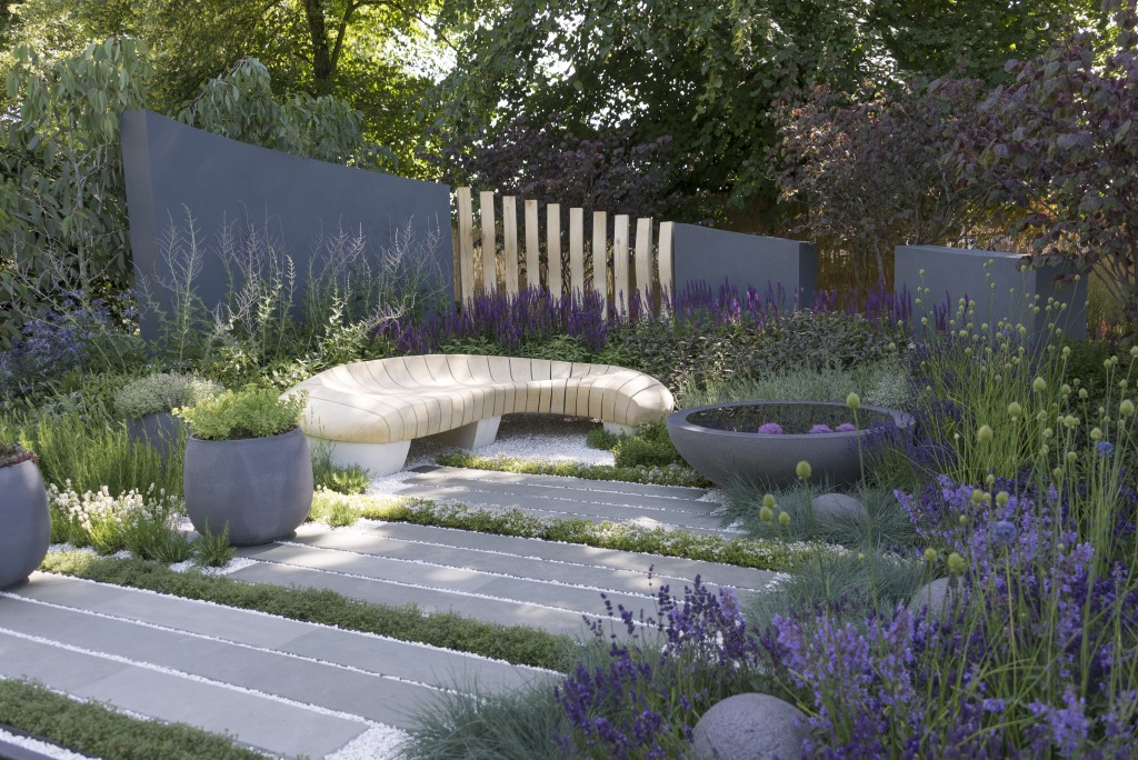 Living Landscapes and Rae Wilkinson Bespoke Kota Blue Paving One 2
