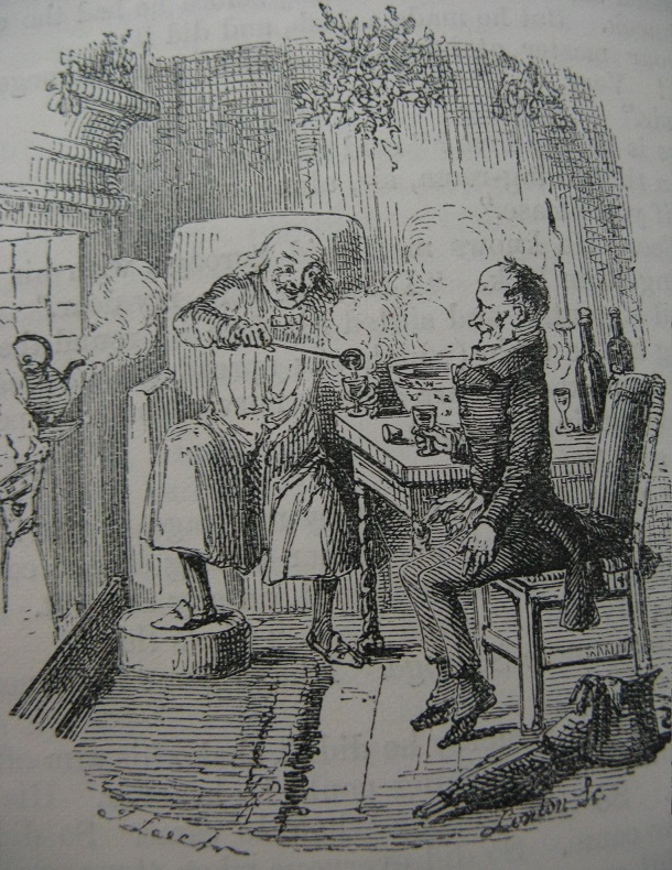 Scrooge and Bob Cratchit, by John Leech