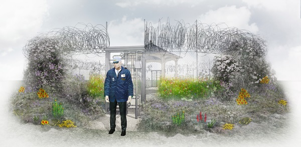UNHCR Border Control Garden, Hampton Court Flower Show
